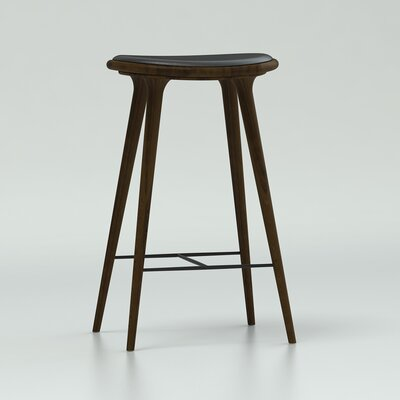 29 Bar Stool Upholstery: Dark Stained Beech Wood