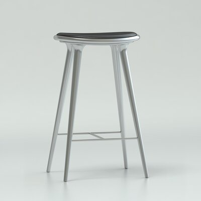 29 Bar Stool Upholstery: Aluminum