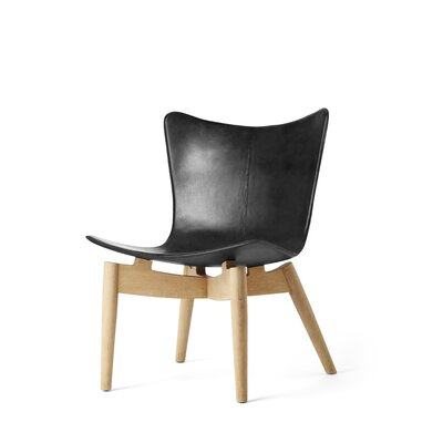 Shell Lounge Chair Color: Soaped Oak, Finish: Black