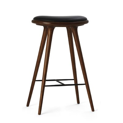 29 Bar Stool Upholstery: Dark Stained Oak