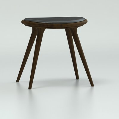 18 inch Bar Stool Upholstery: Dark Stained Beech Wood