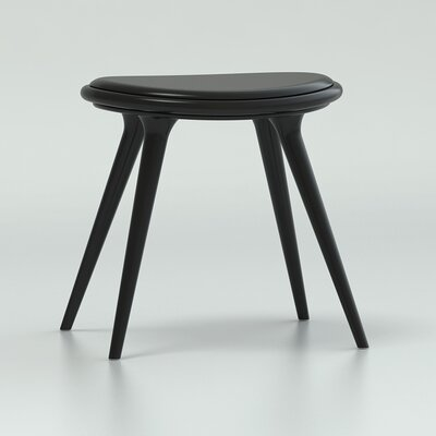 18 Bar Stool Upholstery: Black Hardwood