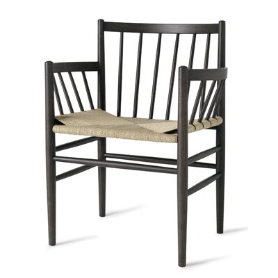 Danish Classic Arm Chair Finish: Sirka Gray Stained Oak/Armrest-Paper Cord