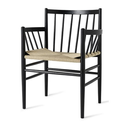 Danish Classic Arm Chair Finish: Black Stained Oak/Armrest-Natural Paper Cord