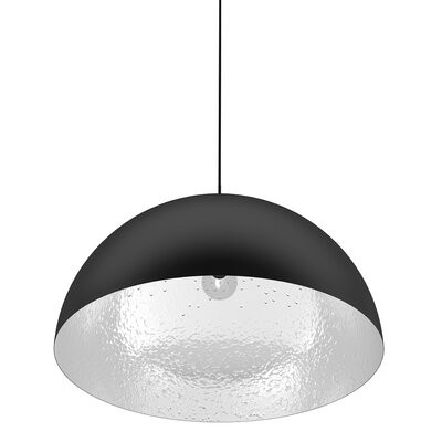 Shade Pendel Lamp Color: Black / Aluminum