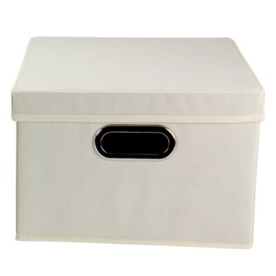 Alexis Storage Bin with Lid Color: Natural