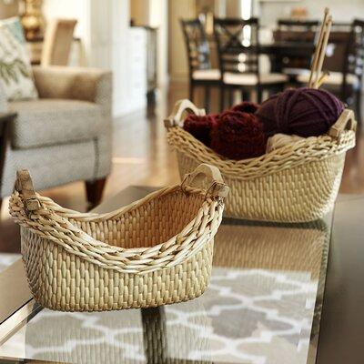 2 Piece Cobblestone Basket Set