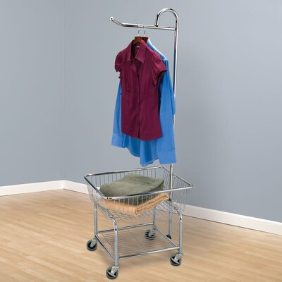 "Household Essentials Laundry Butler with 3"" Wheels in Chrome at Sears.com"