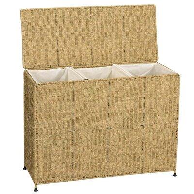 Seagrass KD Triple Wicker Laundry Sorter ML-6445