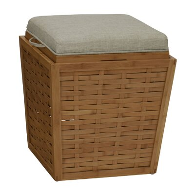 Basketweave Storage Ottoman