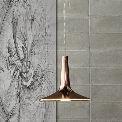 Kin 1-Light Mini Pendant Shade Color: Glossy Copper