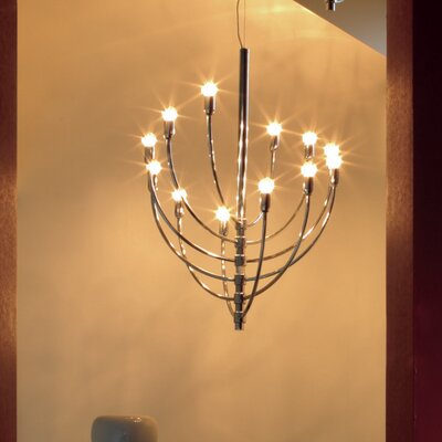 Piazza San Marco Suspension 12-Light Candle-Style Chandelier
