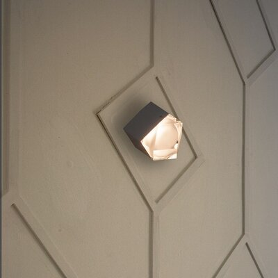 Astro 1-Light Flush Mount Base Color: Black