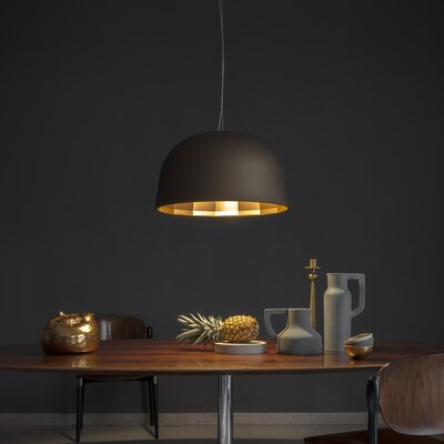 Empty 1-Light Bowl Pendant Shade Color: Bronze/Satin Copper