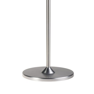 Type 75 Floor Standing Pole Finish: Brushed Aluminium