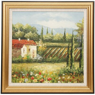 'Farm House' Framed Painting Print TSA-013