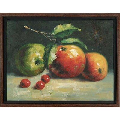 'Apple and Persimmon' Framed Painting Print TSA-052