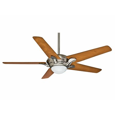 56 Bel Air? 4-Blade Ceiling Fan Finish: Brushed Nickel with Cherrywood Blades