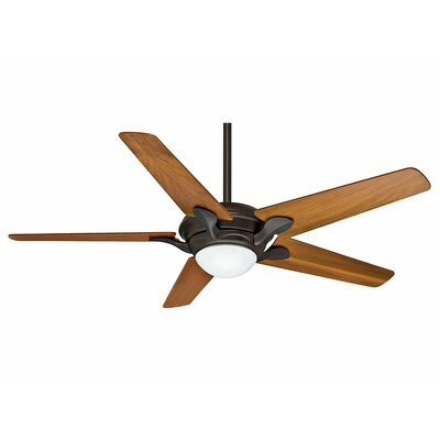 56 Bel Air? 4-Blade Ceiling Fan Finish: Brushed Cocoa with Walnut Blades
