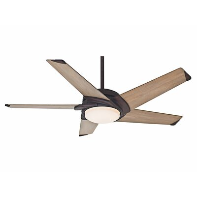 54 Stealth 5 Blade LED Ceiling Fan Finish: Industrial Rust with River Timber Blades