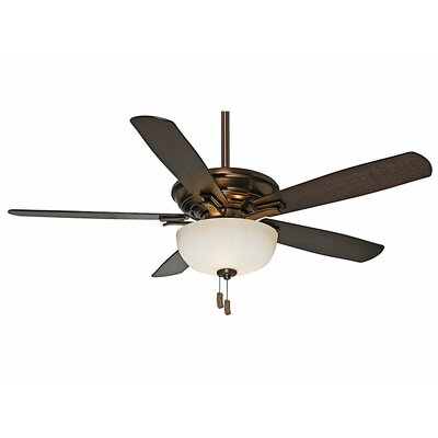 54 Academy Gallery 5-Blade Ceiling Fan Finish: Bronze Patina with Walnut/Burnt Walnut Blades