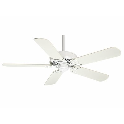 58 Panama 5 Blade Ceiling Fan with Handheld Remote Motor Finish: Snow White