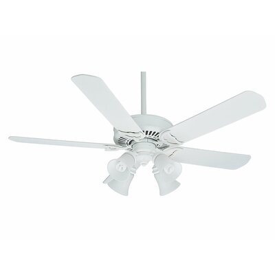 54 Panama Gallery 5-Blade Ceiling Fan Finish: Architectural White