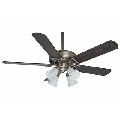 54 Panama Gallery 5-Blade Ceiling Fan Finish: Antique Pewter with Espresso Blades