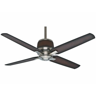 54 Aris 4-Blade Ceiling Fan Finish: Brushed Nickel with Mayse Blades