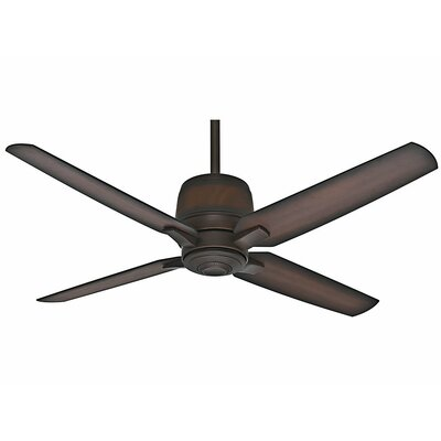 54 Aris 4-Blade Ceiling Fan Finish: Brushed Cocoa with Burnished Mahogany Blades