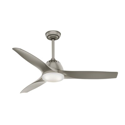 52 Wisp 3 Blade LED Ceiling Fan with Remote Finish: Pewter