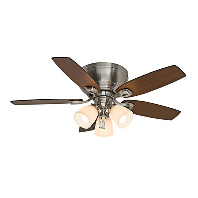 44 Durant 5-Blade Ceiling Fan Finish: Brushed Nickel with Walnut/Burnt Walnut Blades