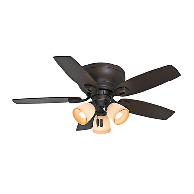 44 Durant 5-Blade Ceiling Fan Finish: Maiden Bronze with Smoked Walnut/Walnut Blades