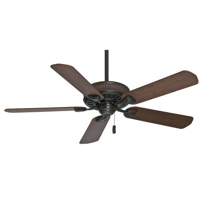 54 Ainsworth 5-Blade Ceiling Fan Finish: Brushed Cocoa with Dark/Distressed Walnut Blades