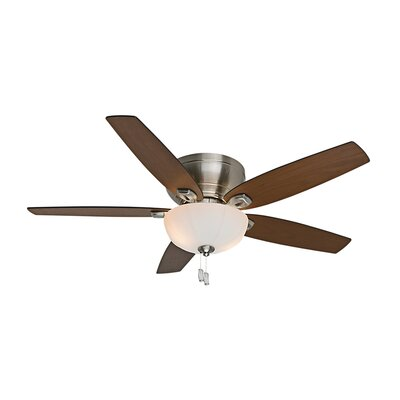 54 Durant 5-Blade Ceiling Fan Finish: Brushed Nickel with Walnut/Burnt Walnut Blade
