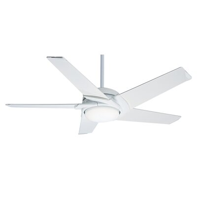 54 Stealth 5 Blade LED Ceiling Fan Finish: Snow White