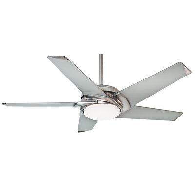 54 Stealth 5 Blade LED Ceiling Fan Finish: Brushed Nickel with Platinum Blades