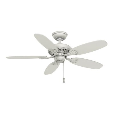 44 Fordham 5-Blade Ceiling Fan Finish: Cottage White
