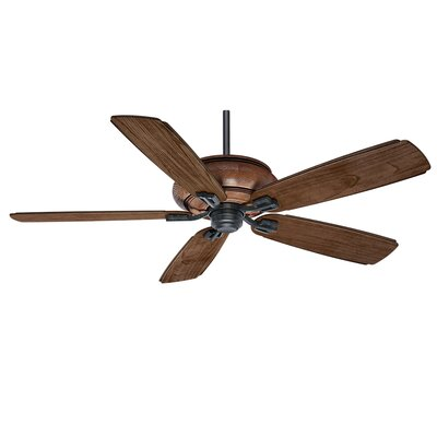 60 Heathridge 5-Blade Ceiling Fan Finish: Aged Steel with Mountain Timber Blades