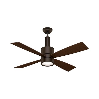 54 Bullet 4-Blade Ceiling Fan Finish: Brushed Cocoa with Walnut / Burnt Walnut