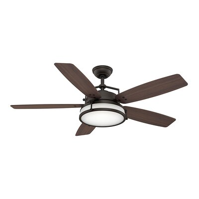 56 Caneel Bay 5-Blade Ceiling Fan Finish: Maiden Bronze with Smoked Walnut Blades