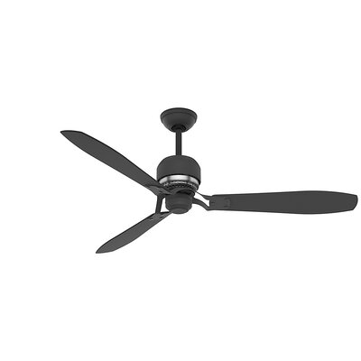 60 Tribecca 3-Blade Ceiling Fan Finish: Graphite with Graphite/Walnut Veneer Blades