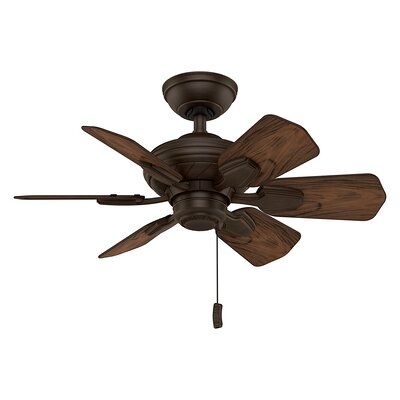 31.25 Wailea 6-Blade Ceiling Fan Motor and Blade Finish: Brushed Cocoa
