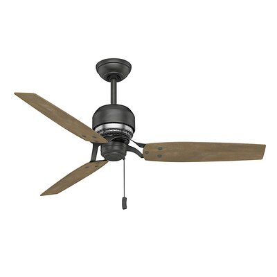 52 Tribeca 3-Blade Ceiling Fan Finish: Steel