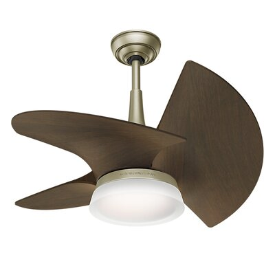 30 Orchid 3-Blade Ceiling Fan Finish: Walnut