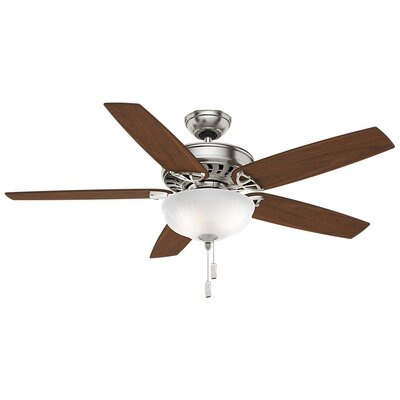 54 Concentra Gallery 5-Blade Ceiling Fan Finish: Brushed Nickel with Walnut/ Burnt Walnut Blades