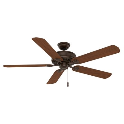 60 Ainsworth Gallery 5-Blade Ceiling Fan Finish: Brushed Cocoa with Distressed /Dark Walnut Blades