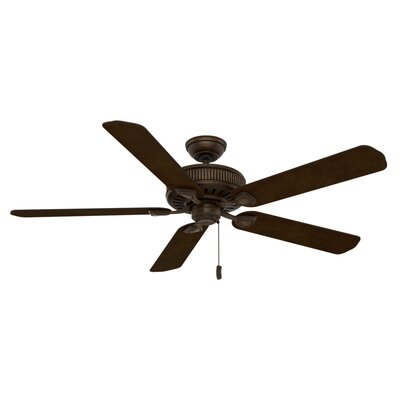 60 Ainsworth Gallery 5-Blade Ceiling Fan Finish: Provence Crackle with Smoked /Espresso Blades