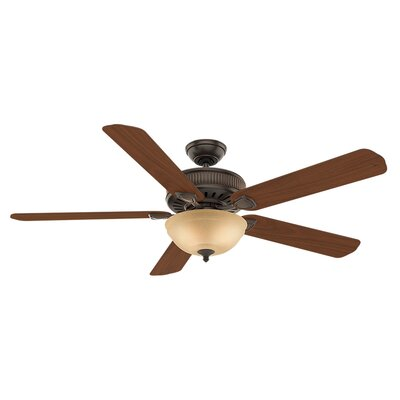60 Ainsworth Gallery 5-Blade Ceiling Fan Finish: Onyx Bengal with Distressed /Dark Walnut Blades