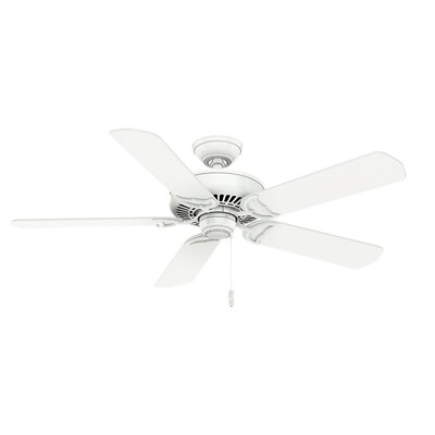 58 Panama 5 Blade Ceiling Fan Finish: Snow White
